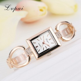 Lvpai Jam Tangan Wanita Stainless Steel - LP025 - Rose Gold/White