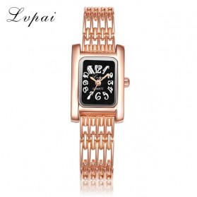 LVPAI Jam Tangan Analog Wanita - LP074 - Black Gold
