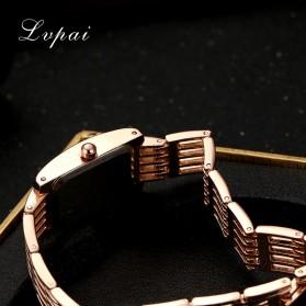LVPAI Jam Tangan Analog Wanita - LP074 - Black Gold - 5