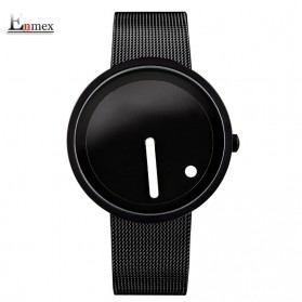 Enmex Jam Tangan Analog Fashion Pria - E2311 - Black/Black