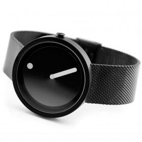 Enmex Jam Tangan Analog Fashion Pria - E2311 - Black/Black - 5
