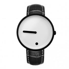 Enmex Jam Tangan Analog Kulit Pria - E2324 - Black White