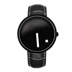 Enmex Jam Tangan Analog Kulit Pria - E2324 - Black/Black - 1