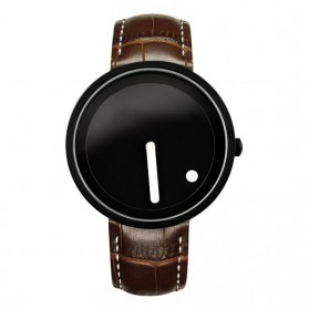 Enmex Jam Tangan Analog Kulit Pria - E2324 - Brown/Black