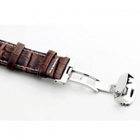 Enmex Jam Tangan Analog Kulit Pria - E2324 - Brown/Black - 3