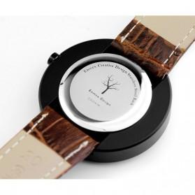 Enmex Jam Tangan Analog Kulit Pria - E2324 - Brown/Black - 7