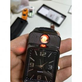 HUAY Jam Tangan Kasual dengan Korek Elektrik Rechargeable - Black - 7