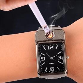 HUAY Jam Tangan Kasual dengan Korek Elektrik Rechargeable - Black - 8