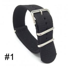 Tali Jam Tangan Nylon 18mm - W239 - Black