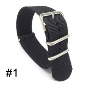 Tali Jam Tangan Nylon 20mm - Black