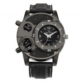 Super Speed Jam Tangan Analog Luxury Quartz - V8 - Black