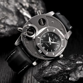 Super Speed Jam Tangan Analog Luxury Quartz - V8 - Black - 4