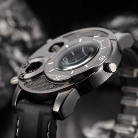 Super Speed Jam Tangan Analog Luxury Quartz - V8 - Black - 5