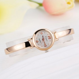 LVPAI Jam Tangan Analog Wanita - LP0255 - Rose Gold/White