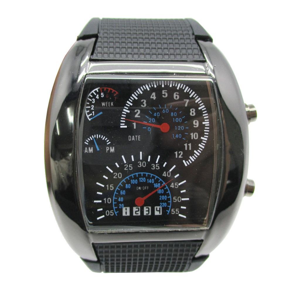 Led Digital Gauges : Led watch digital speedometer black jakartanotebook