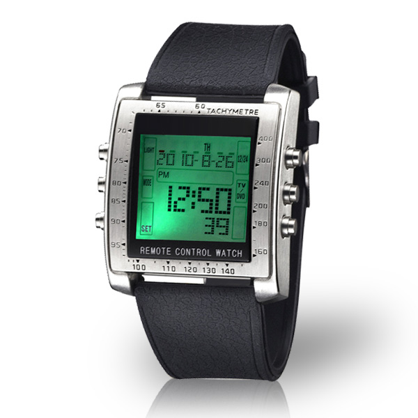 Remote Control Watch - TV2018 - Silver Black - JakartaNotebook.com 7d23bf9833
