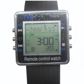 Remote Control Watch - TV2010 - Silver Black