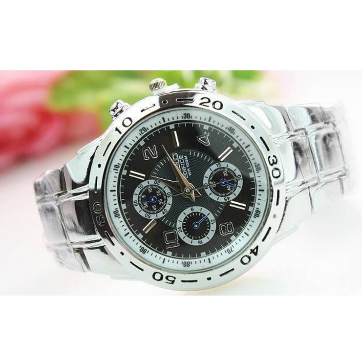 Rosra fashion luxury quartz watch with three six pin silver for Rosra watches