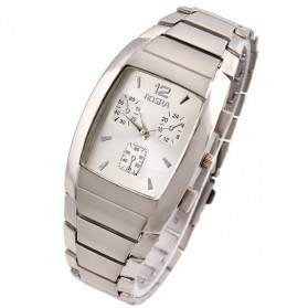 Rosra Barrel Stainless Steel Quartz Watch - Silver