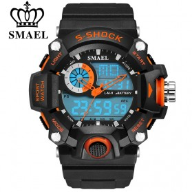 SMAEL Jam Tangan Digital Luminous - 1385 - Black/Orange