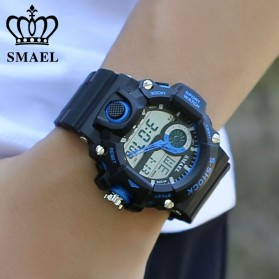 SMAEL Jam Tangan Digital Luminous - 1385 - Black/Orange - 2