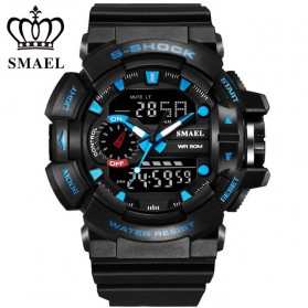SMAEL Jam Tangan Digital Luminous - 1436 - Black/Blue