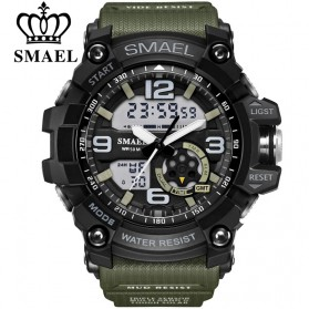 SMAEL Jam Tangan Digital Fashion Luminous - 1617 - Army Green