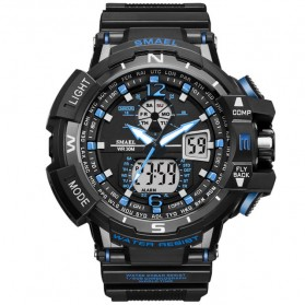 SMAEL Jam Tangan Digital Masculino - 1376 - Black/Blue