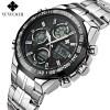 Jam Tangan Pria Keren Terbaru - WWOOR Jam Tangan Luxury Pria - 8019 - Black