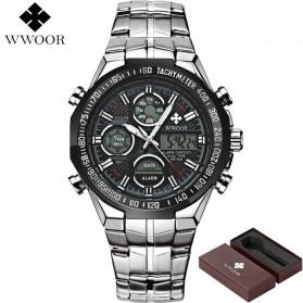 WWOOR Jam Tangan Luxury Pria - 8019 - Black - 2