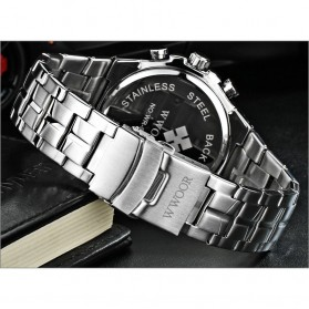 WWOOR Jam Tangan Luxury Pria - 8019 - Black - 4