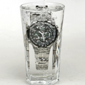 WWOOR Jam Tangan Luxury Pria - 8019 - Black - 5