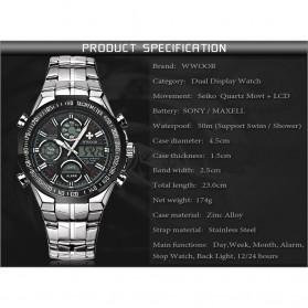 WWOOR Jam Tangan Luxury Pria - 8019 - Black - 7