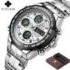 Jam Tangan Pria Keren Terbaru - WWOOR Jam Tangan Luxury Pria - 8019 - White/Black