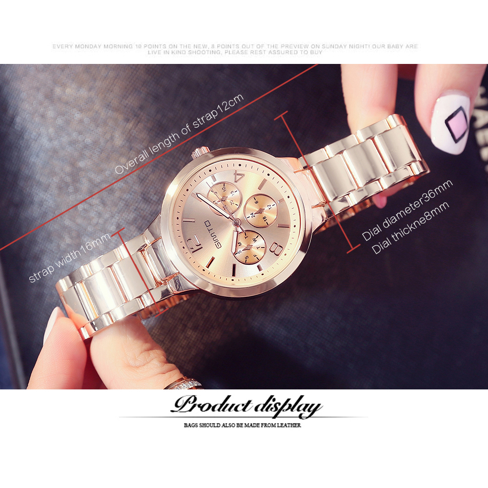 Dd156 05 Jam Tangan Analog Wanita Black Gold Smart4k Design Ideas Rhythm L1201s 03 Stainless Silver Gimto Gm403b Rose 3