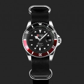 Military Royale Jam Tangan Analog Automatic - MR105/107/109/111/113 - Black/Red