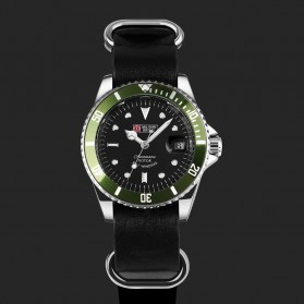 Military Royale Jam Tangan Analog Automatic - MR105/107/109/111/113 - Black/Green