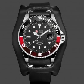 Military Royale Jam Tangan Analog Automatic Pria - MR136/130/134/140/142 - Black/Red
