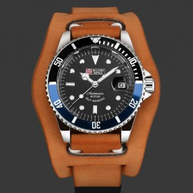 Military Royale Jam Tangan Analog Automatic Pria - MR136/130/134/140/142 - Brown/Blue