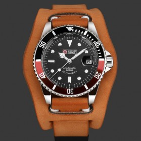 Military Royale Jam Tangan Analog Automatic Pria - MR136/130/134/140/142 - Brown/Red