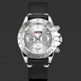 Military Royale Jam Tangan Analog Pria - MR148/127 - White/Silver