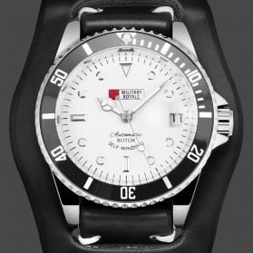 Military Royale Jam Tangan Automatic Self Winding Pria - MR116/119/121/123/126 - Black White