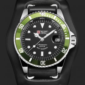Military Royale Jam Tangan Automatic Self Winding Pria - MR116/119/121/123/126 - Black/Green
