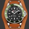 Military Royale Jam Tangan Automatic Self Winding Pria - MR116/119/121/123/126 - Brown/Green