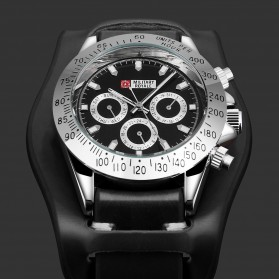Military Royale Jam Tangan Mekanikal Analog Pria - MR155 - Black - 5