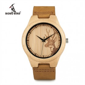 BOBO BIRD Jam Tangan Bambu Analog Wanita - WN20 - Brown