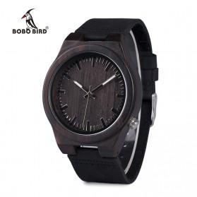BOBO BIRD Jam Tangan Kayu Analog Pria - B12 - Black - 2