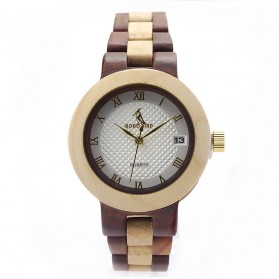 BOBO BIRD Jam Tangan Kayu Analog Wanita - M19 - Brown