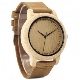 BOBO BIRD Jam Tangan Kayu Analog Wanita - L19 - Brown