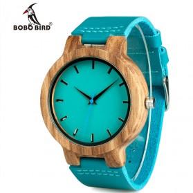 BOBO BIRD Jam Tangan Kayu Pria - WC28 - Blue